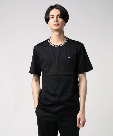『カルバン・クライン ジーンズ』ネック ロゴTシャツ
