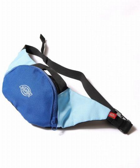 『ディッキーズ』コーデュラロゴ刺繍入り 配色ミニショルダーウエストバッグ