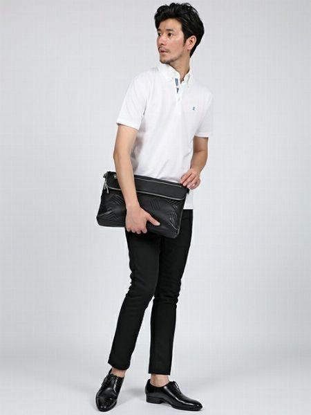 全身をスマートにまとめたポロシャツスタイルの基本形
