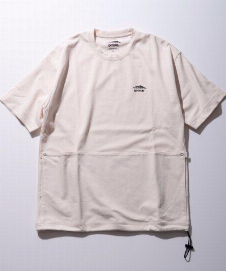 『アウトドアプロダクツ』ワンポイントブランドロゴポケット付きユーティリティTシャツ