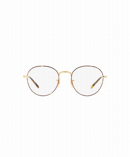 ▼メガネ×コーデ3:ラウンド型メガネで上品コーデに個性を味つけ