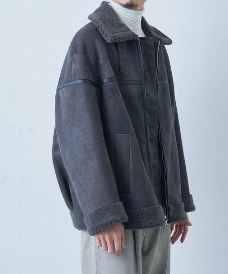 『エイチ ビューティ&ユース』クラックムートンB-3ジャケット