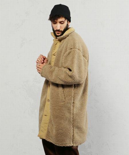 『ビームスライツ』ボアステンカラーコート