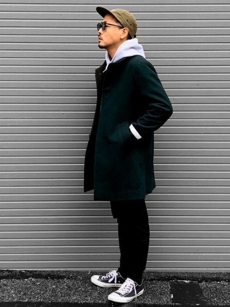 コート メンズ カラー スタンド