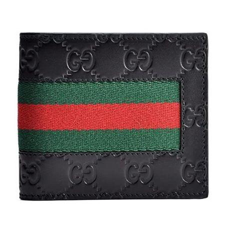ウェブ GGスプリーム シグネチャー レザー 二つ折り財布