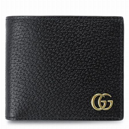 GGマーモント ダブルG レザー  二つ折り財布