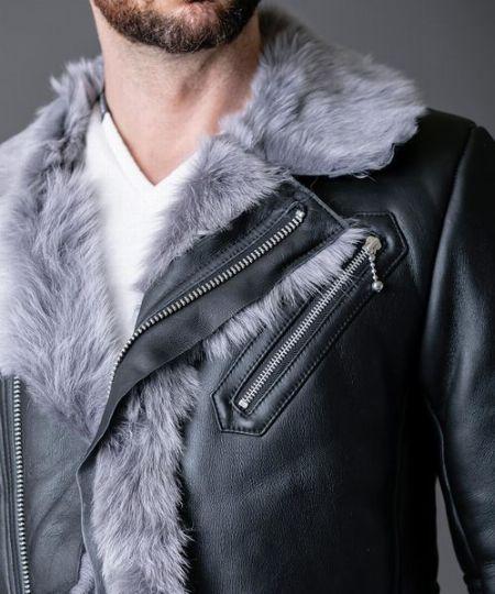 ムートンジャケットは、毛足の長さで印象が変化 2枚目の画像