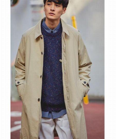 『アバハウスグレイ』ステンカラー フライフロントコート
