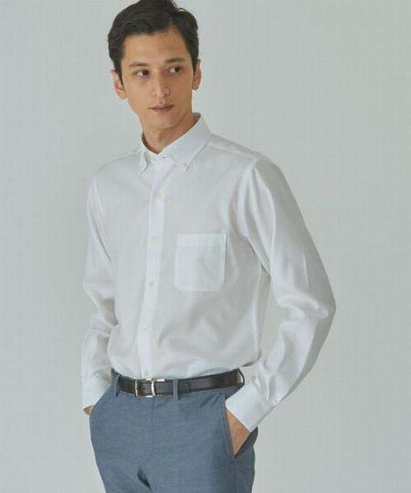 『グリーンレーベルリラクシング』スリム ロイヤルオックス S ボタンダウン ドレスシャツ