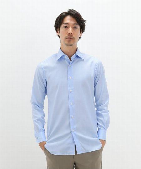 『エディフィス』ドレスシャツ セミワイド ツイル