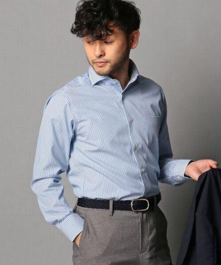 『ノーリーズグッドマン』イージーアイロンワイドカラーシャツ