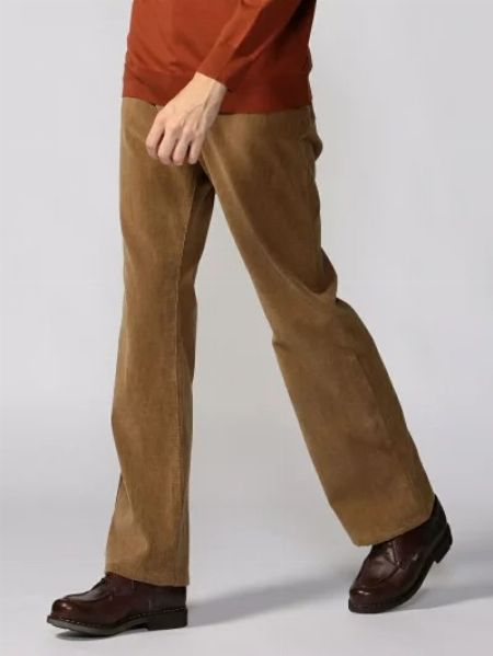 『ギャルリー ヴィー』オーガニックコットンコーデュロイ ブーツカット5ポケットパンツ