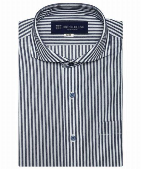 『ブリックハウス バイ トウキョウシャツ』ホリゾンタルワイド 半袖ビジネスニットワイシャツ