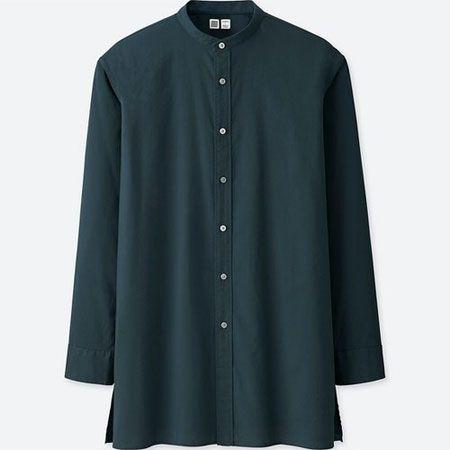 ▼カジュアルで新鮮な「スタンドカラーシャツ」のお手本コーデ