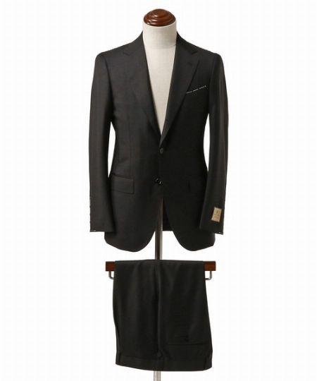『ビームス エフ』CARLO BARBERA ブラック スーツ