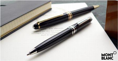 ▼実用性や気軽さを重視するなら、『モンブラン』のボールペンを