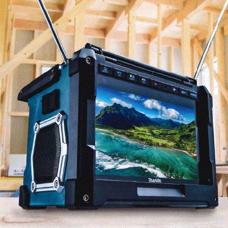 充電式ラジオ付きテレビ