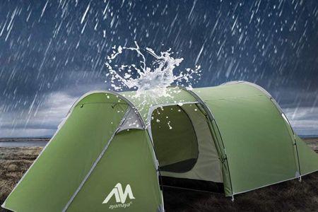 カマボコ型テントは「強い!」