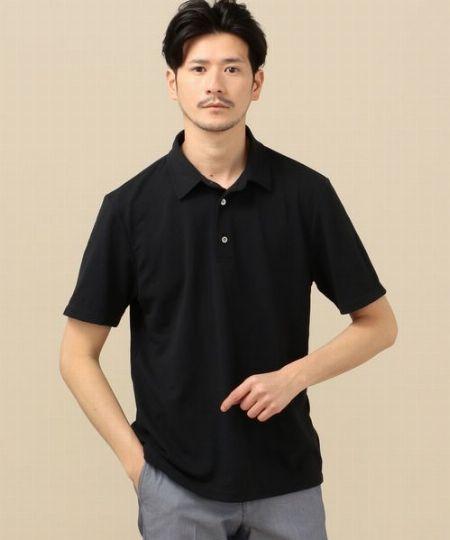 ▼カラー2:コーデを引き締め、ビジネススタイルをモダンに仕上げる「黒ポロシャツ」