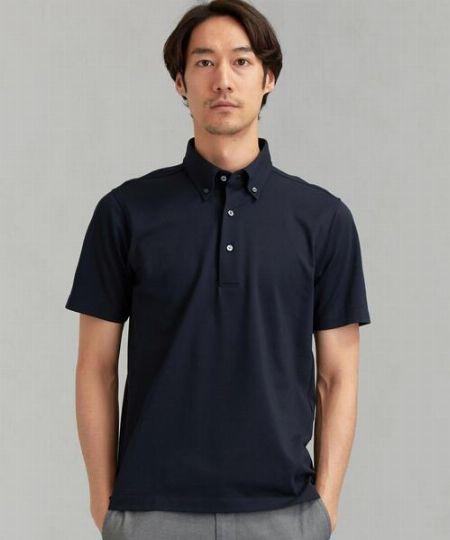 ▼カラー3:清潔感や知的さに加え、洒落感も演出できる「ネイビーポロシャツ」