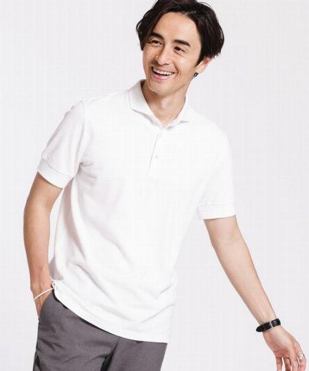 ▼カラー1:どんなアイテムにもマッチ。クリーンで爽やかな「白ポロシャツ」