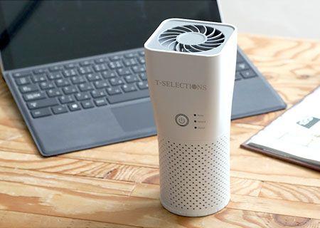 仕事中の空気を気持ち良く。煙も花粉も臭いも、卓上空気清浄機で解決!