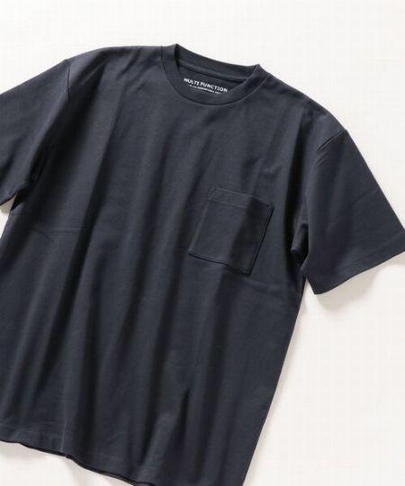 『シップス エニィ』マルチファンクション クルーネックTシャツ