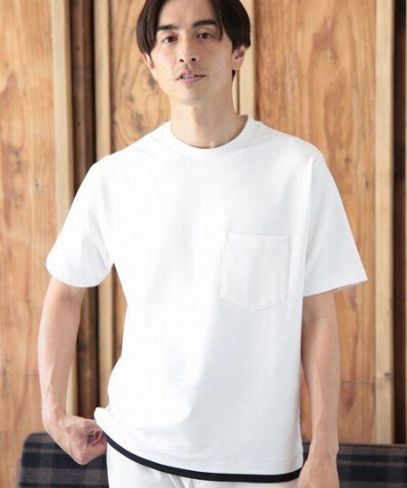 『ユニオンステーション』フェイクレイヤードポケットTシャツ