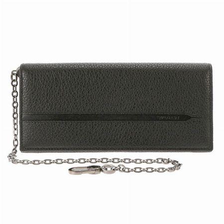上品なウォレットチェーン付きの「オクト」の長財布