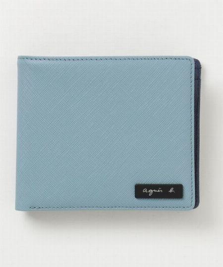 開閉時にカラーコンビを楽しめる二つ折り財布「AH16-01」
