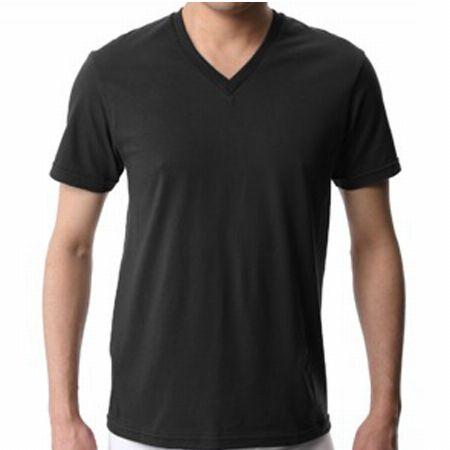 天竺編みのVネックTシャツ