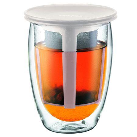 「ティーフォーワン」ティーフィルター付きダブルウォールグラス