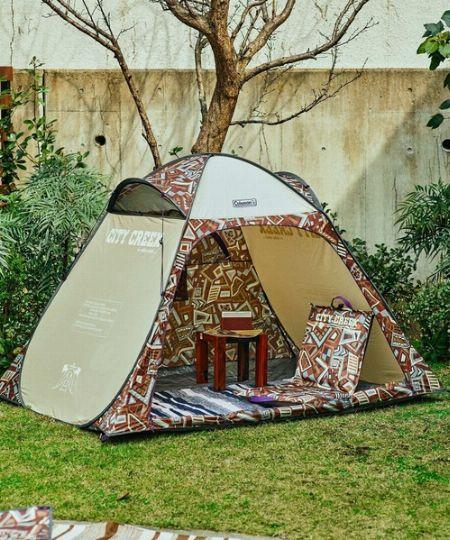 庭先やガレージにテントを張ってみる