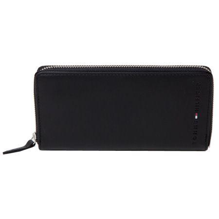 フラッグアイコンとロゴ刻印が特徴の長財布
