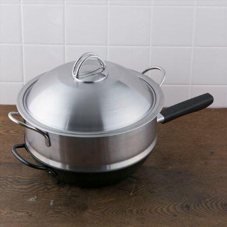 『貝印』Wakiya 脇屋友詞 匠鍋 蒸し燻製兼用セット