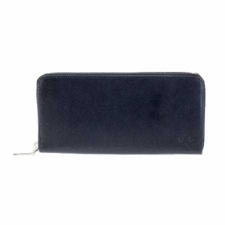 上質なレザーが引き立つ端正なフォルムのラウンドファスナー長財布
