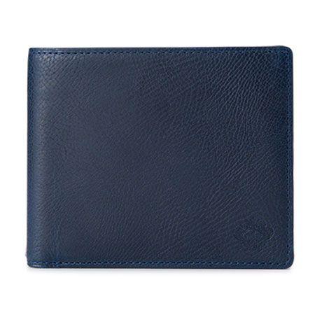仕切り付き小銭入れが特徴の二つ折り財布