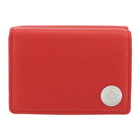 表情豊かなレザーの質感が印象的な三つ折り財布