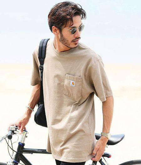 『カーハート』ビッグシルエット ポケット Tシャツ