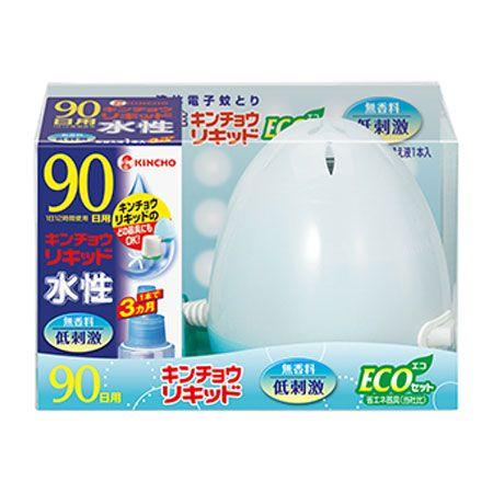 『大日本除虫菊』水性キンチョウリキッド コード式 蚊取り器 90日セット 無香料