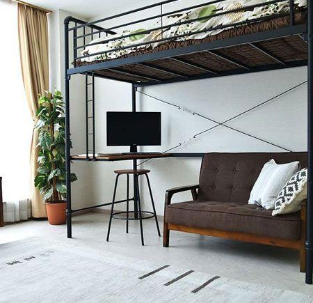 限られた空間を、賢く利用。ロフトベッドを取り入れて収納上手に 2枚目の画像
