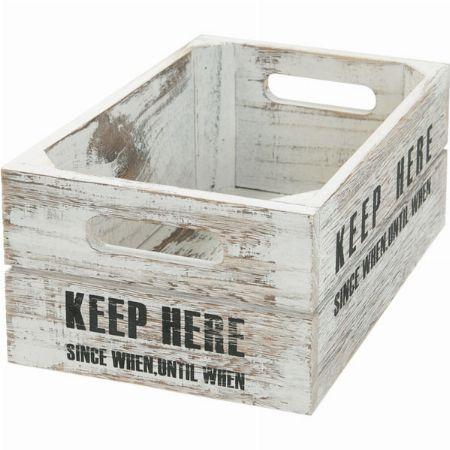ヴィンテージ調の家具と合わせたい「カラボサイズボックス  シャック」