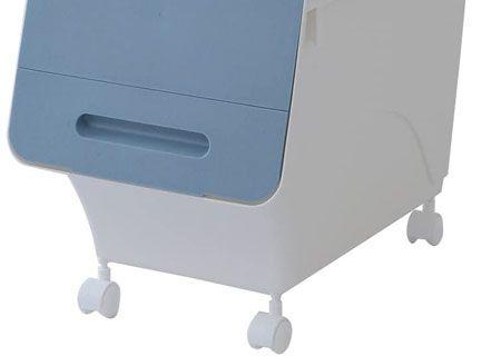 キャスター付きのスタックボックスなら、モノを入れたまま移動が可能
