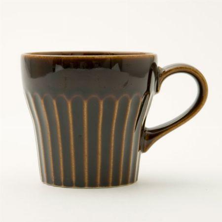 『ニトリ』しのぎ 飴釉 マグカップ