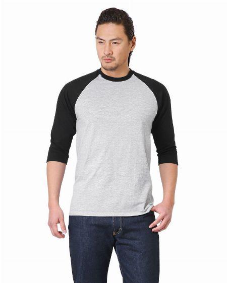 それ1枚でメリハリを出せるプレミアムコットン5.3オンス アダルト ラグラン Tシャツ