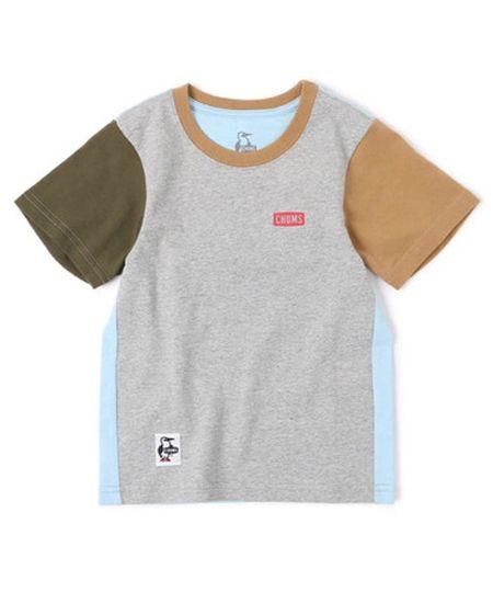 『チャムス』キッズブービーロゴTシャツ