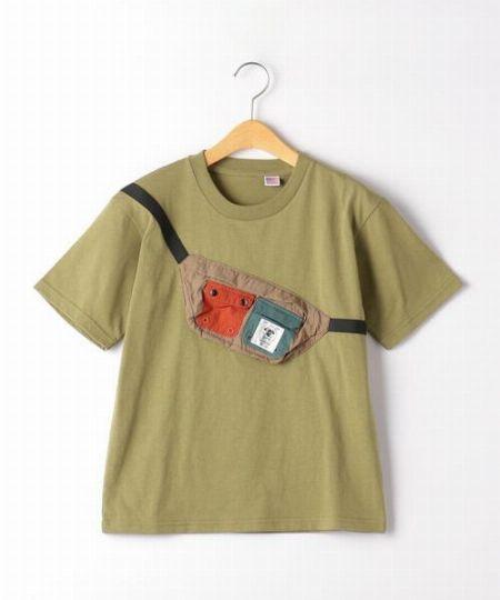 『GRN アウトドア』×『グリーンレーベル リラクシング』フェイクポーチTシャツ