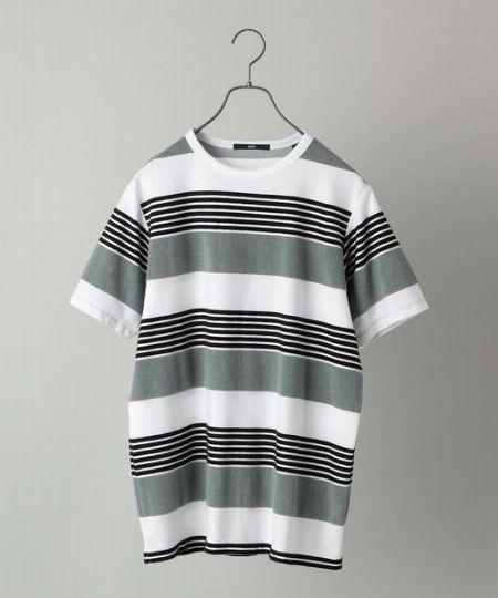 『シップス』パイル ボーダー Tシャツ
