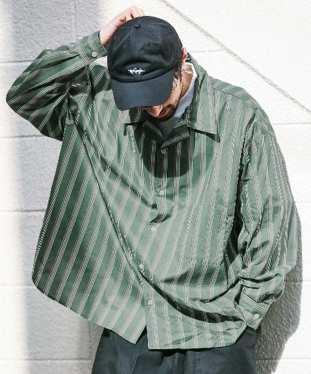 秋冬の羽織りにもってこい。シャツだって、ビッグサイズが良いのです