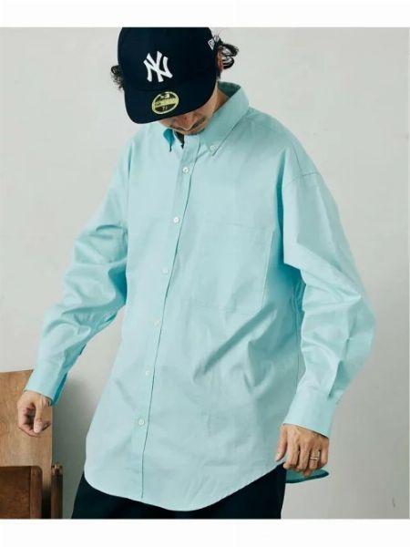 『ジムフレックス』ビエラチェック 長袖ビッグボタンダウンシャツ